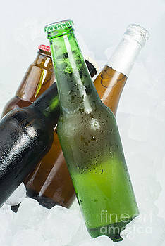 Green Bottle of beer by Deyan Georgiev