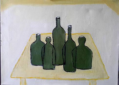Green Bottles by Bernard Victor