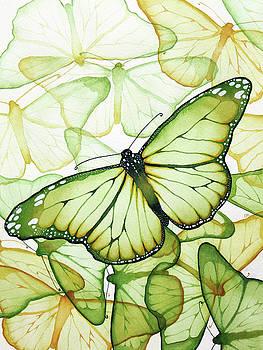 Green Butterflies by Christina Meeusen