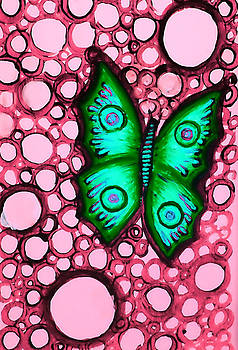 Green Butterfly by Brenda Higginson