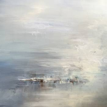 Green Calm Abstract by Karen Ahuja