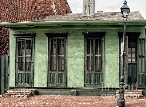 Green Creole Cottage New Orleans by Kathleen K Parker
