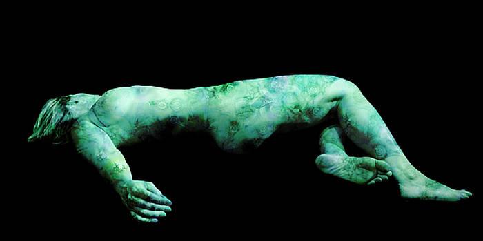 Green Danae On Black by Paul Pinzarrone