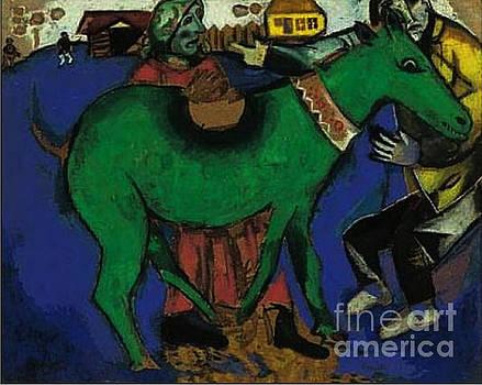 Marc Chagall - Green Donkey