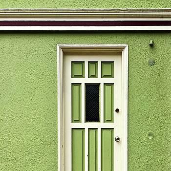 Green Door Detail by Julie Gebhardt