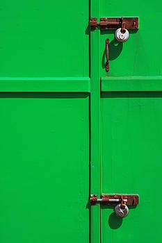 Green Door Lock by Darren Kearney