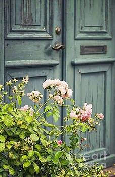 Sophie McAulay - Green door with rosebush