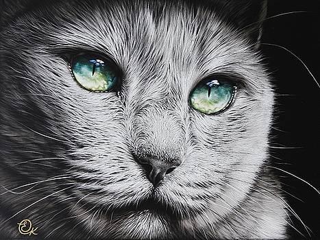 Green-eyed diva by Elena Kolotusha