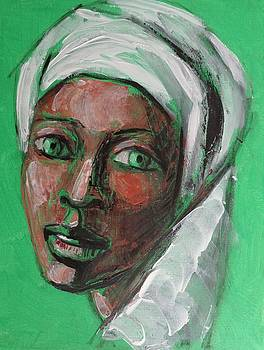 Green Eyes - Portrait Of A Woman by Carmen Tyrrell
