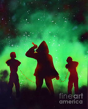 Green Fog and Stars by Justin Moore