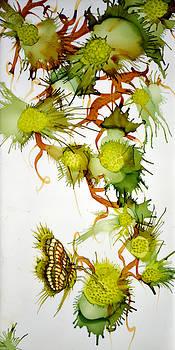 Green Fruit and Butterfly by Jennifer  Creech