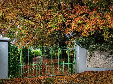 Green Gate to Autumn Paradise by James Truett
