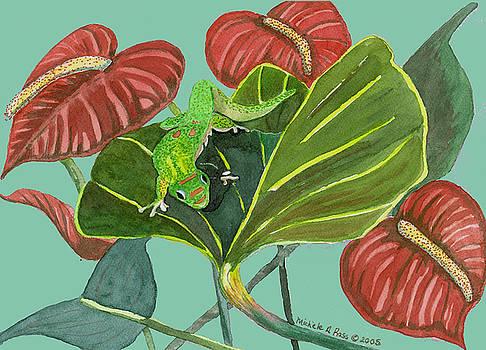 Green Gecko by Michele Ross