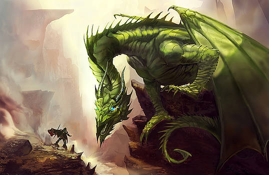 Green God Dragon by Anthony Christou