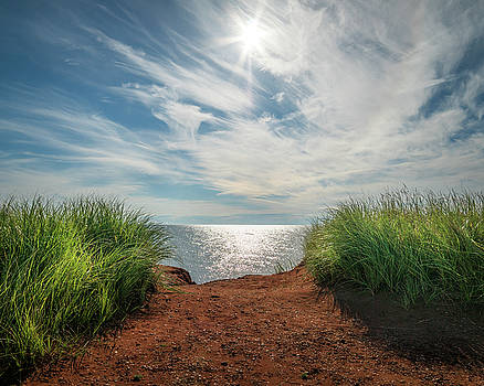 Green Grass and Red Sand by Chris Bordeleau