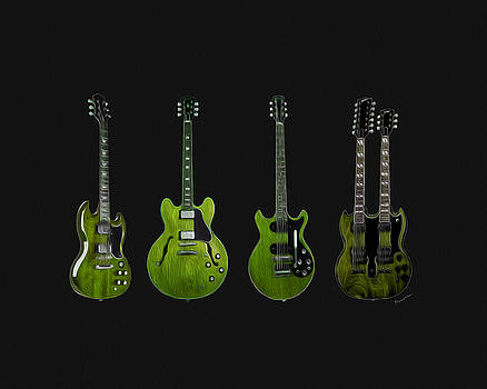 Green Guitars by P Donovan