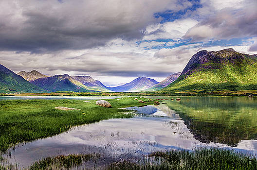 Green hills of Vesteralen by Dmytro Korol
