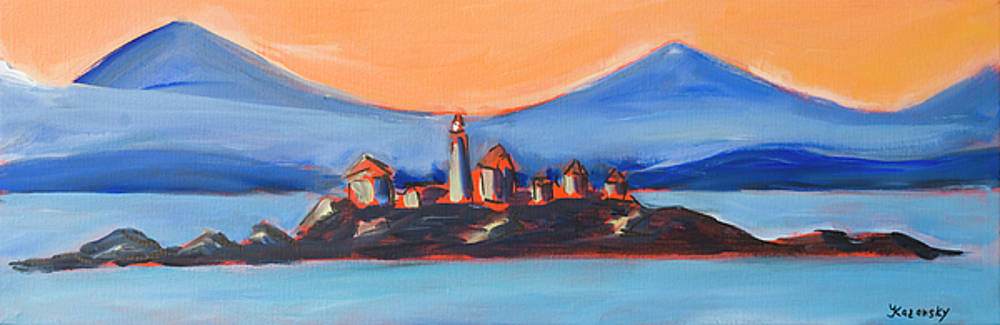 Green Island Lighthouse by Yulia Kazansky
