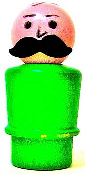 Green Man Mustache by Ricky Sencion