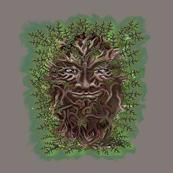Green Man of the forest by Thomas Lupari