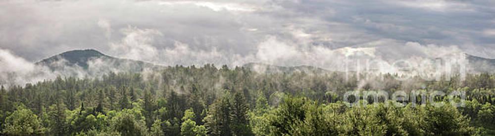 Green Mountains Fog Panoramic by Jason Kolenda