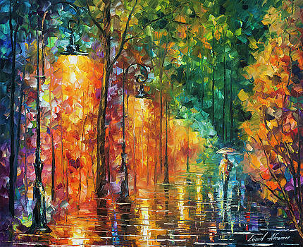 Green Night  by Leonid Afremov