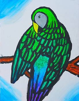 Artists With Autism Inc - Green Parrot