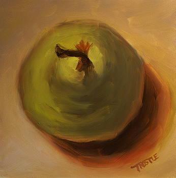 Green Pear Print by Patti Trostle