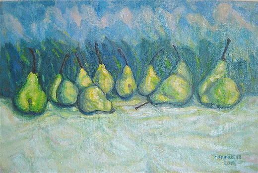 Green Pears by Enrique Ojembarrena