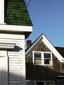 Green Roof Stonington Deer Isle Maine Coast by Ed A Gage