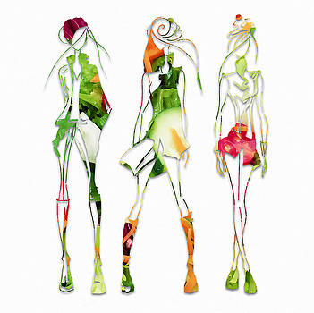 Green Salad Fashion by Marvin Blaine
