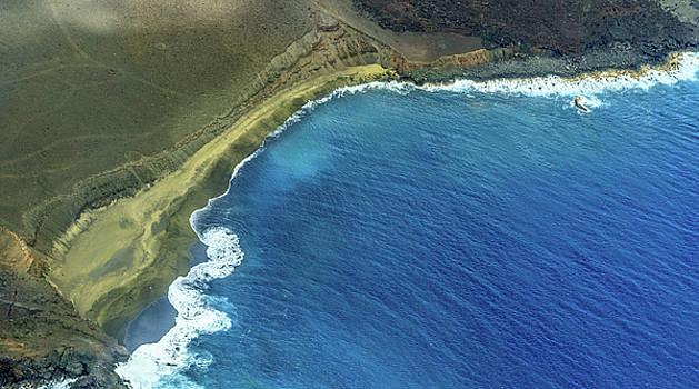 Green Sand Beach Aerial by Denise Bird