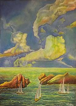 Green sea by Alexander Dudchin