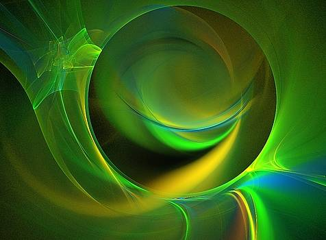 Green seed fractal by Ricardo Szekely