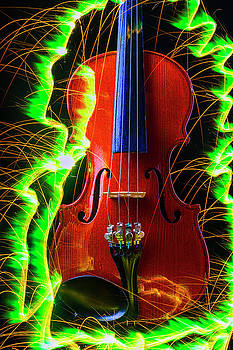 Green Sparks And Violin by Garry Gay