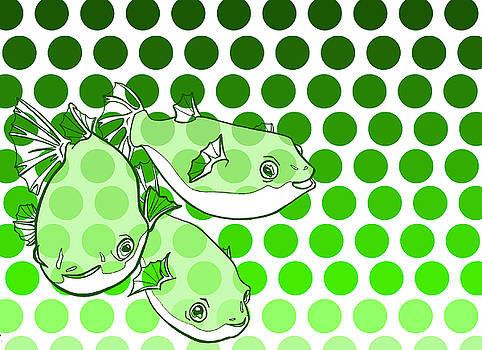 Green Spotted Puffer by Lucy Loo Wales