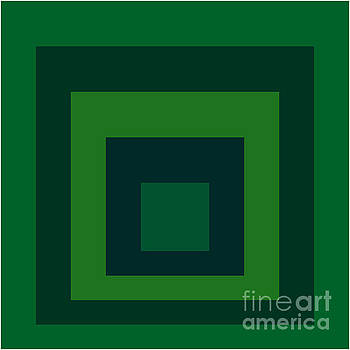 Green Squares by Peter  Schoenbohm