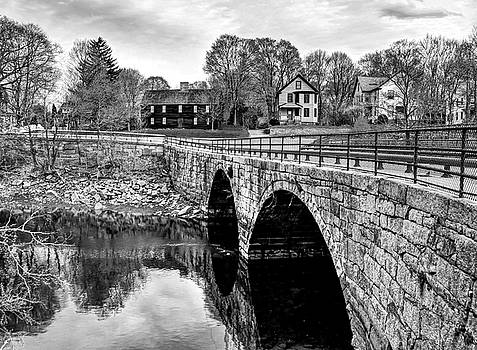 Green Street Bridge in Black and White by Wayne Marshall Chase