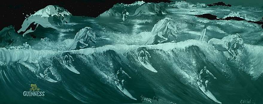 Green surfers by Colin O neill