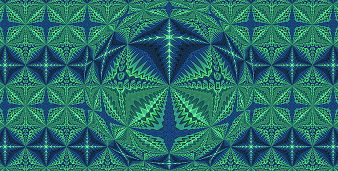 Green Symmetrical Pattern, Kaleidoscope by Ernst Dittmar