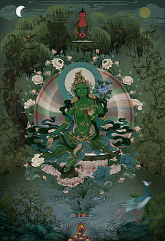 Green Tara by Ben Christian