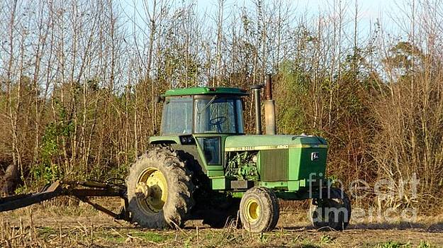 Green Tractor by Karen Francis