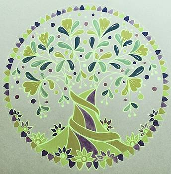 Green tree7 by Jilly Curtis