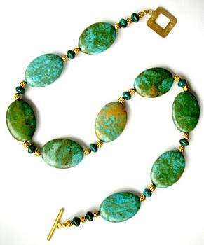Green Turquoise with Malachite by Pat Stevens