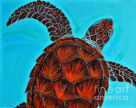 Green turtle crousing III by Paola Correa de Albury