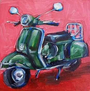 Green Vespa by Sheila Tajima