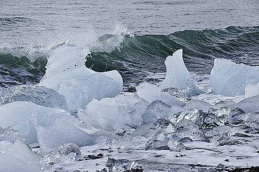 Green Wave, Blue Ice by Michele Burgess