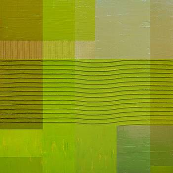 Michelle Calkins - Green with Wavy Stripes