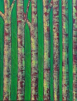 Green wood by Wonju Hulse