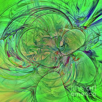 Deborah Benoit - Green World Abstract